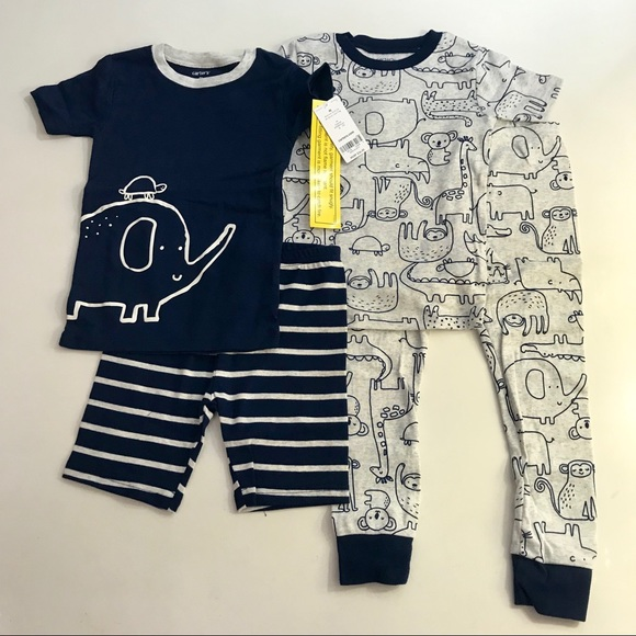 NWT Carter/'s Sz 3T 4T or 5T Girl 4 Piece Winter Penguin PJs  Pajamas NEW